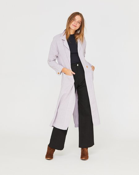 Esby BARONNE LINEN DUSTER - LILAC