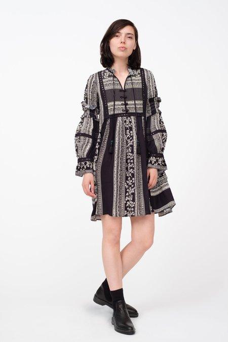 SEA Keely Tunic Dress - Black Multi