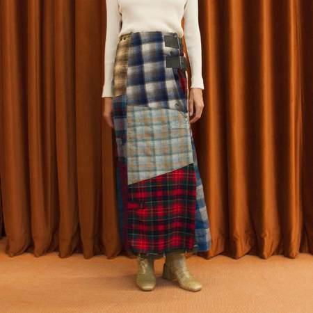 Needles Pendleton Wrap Skirt