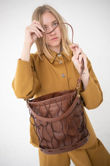 Eatable of Many Orders Charcuterie Shoulder Bag - Brown