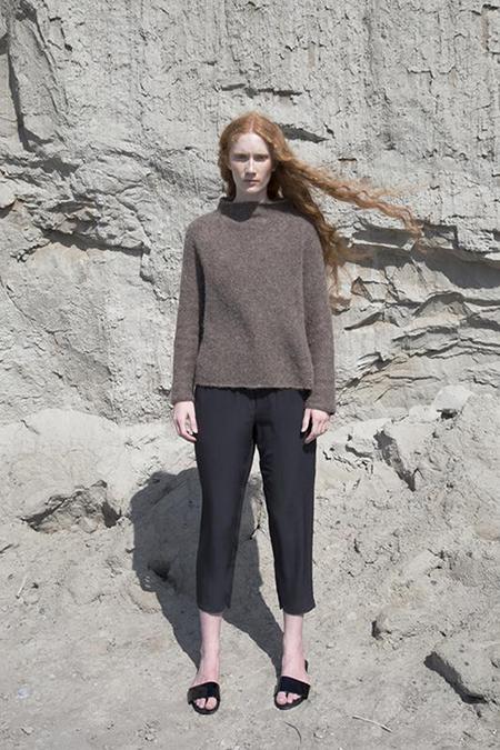 Fform Mock Neck Sweater - Brown