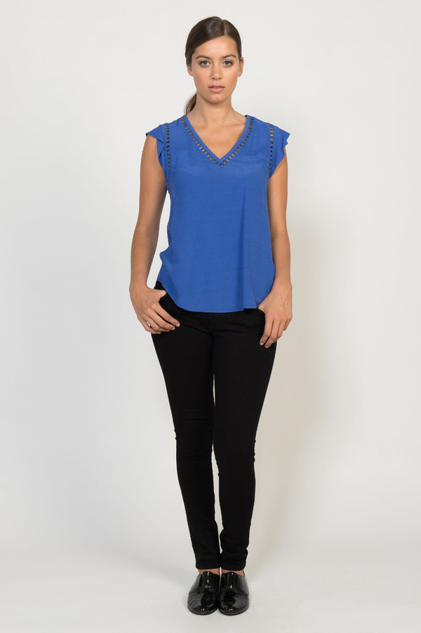 Rebecca Taylor Embroidered Circle Top