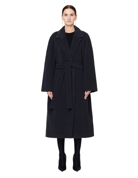 The Row Maglin Wool Belted Coat - Grey