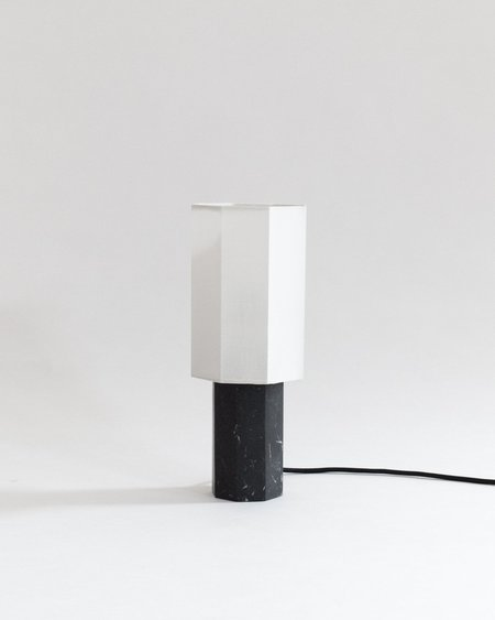Louise Roe Small Marble Table Lamp - Black