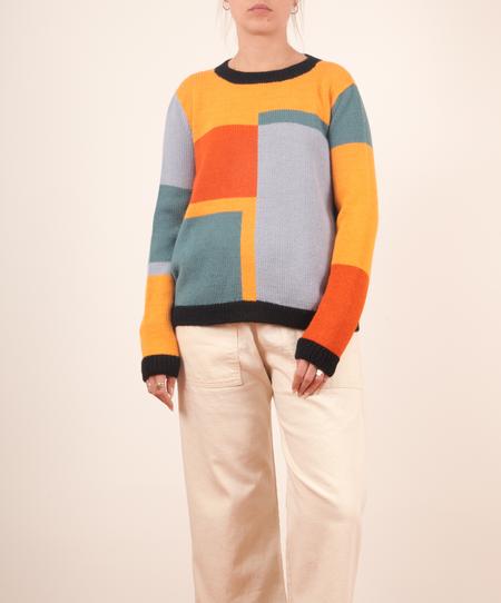 Dusen Dusen-Square Sweater - Square Print