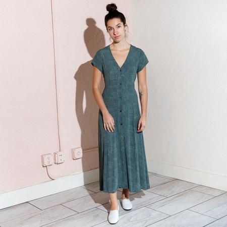 Rollas Milla Maxi Dress - Green Spot