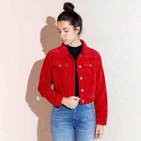 Rollas Runaway Cord Jacket - RED
