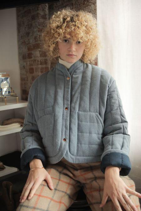 La Workshop Reversible Quilted Jacket - Denim