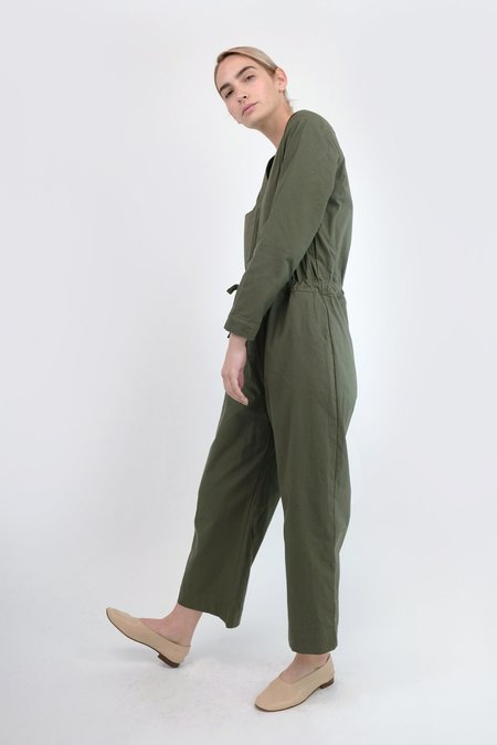 Micaela Greg Tie Coverall - Olive