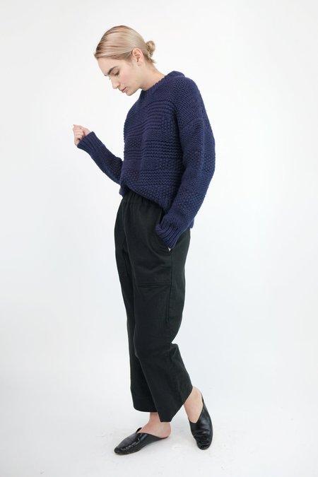 Micaela Greg Ply Knit Pullover - Navy