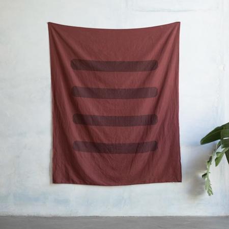 Kesslyr Dean Block Printed Linen Throw