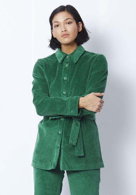 Staud Hayley Cord Jacket - Emerald