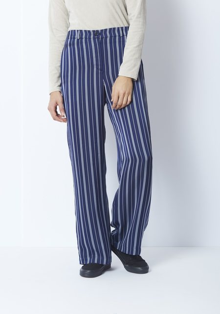 You Must Create Last Tango Trouser - Blue/Cream Stripe