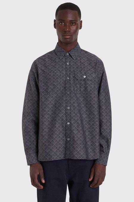 Tres Bien Jacquard Work Shirt - Black