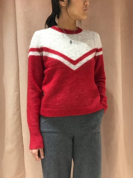 JUST FEMALE SWISS KNIT sweater - SCARLET SAGA