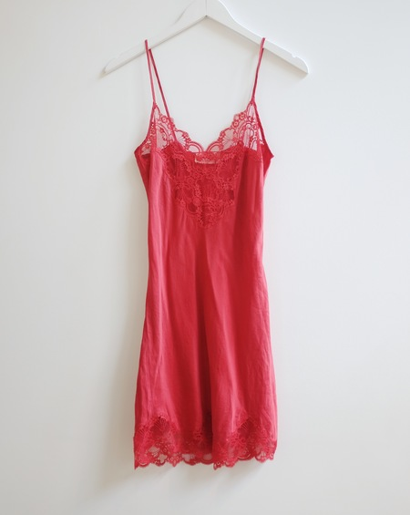 Hey Jude Vintage Slip Dress - Ruby