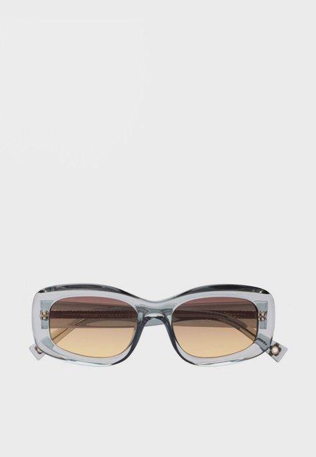 Le Specs X Double Rainbouu Five Star Sunglasses - Sea Foam