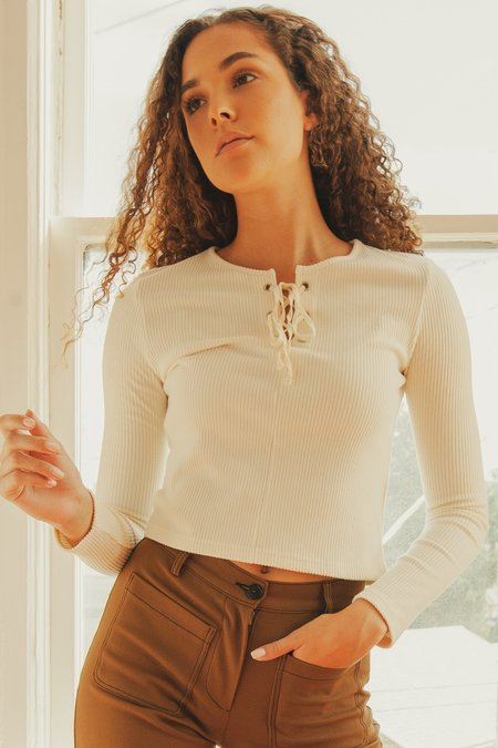 Side Party Convo Top - ivory