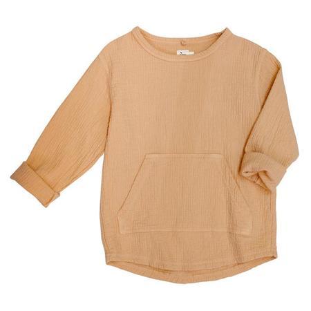 Kids Nico Nico Baby And Child Paz Quilted Sweatshirt - Petal Pink
