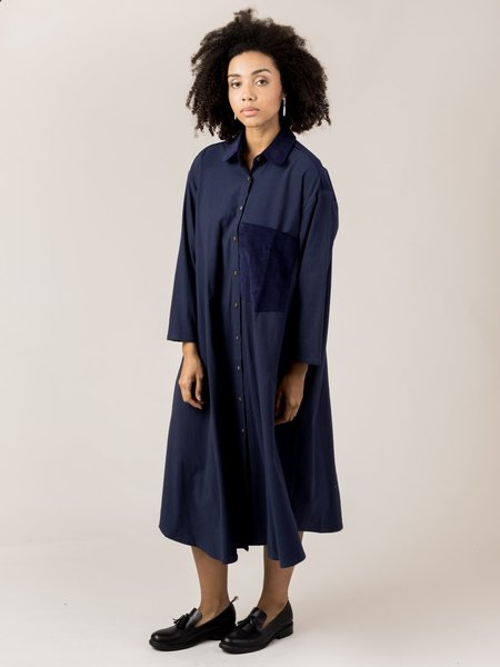 Sunja Link Shirt Dress - Deep Blue