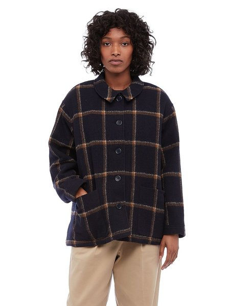 YMC Fanny Check Jacket - Navy
