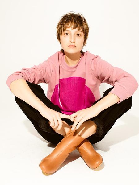 Unisex Correll Correll Velvet Circle Sweatshirt - Pink