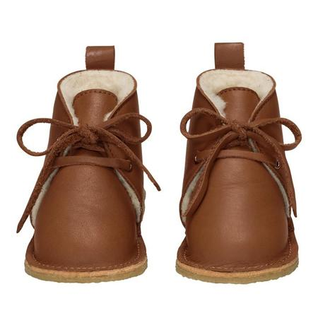 Kids Birds Of Nature Baby And Child Birds Boots With Fur Lining - Hazel Brown