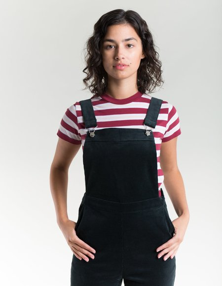 Side Party Scarlett Corduroy Dungarees - Dark Blue Green