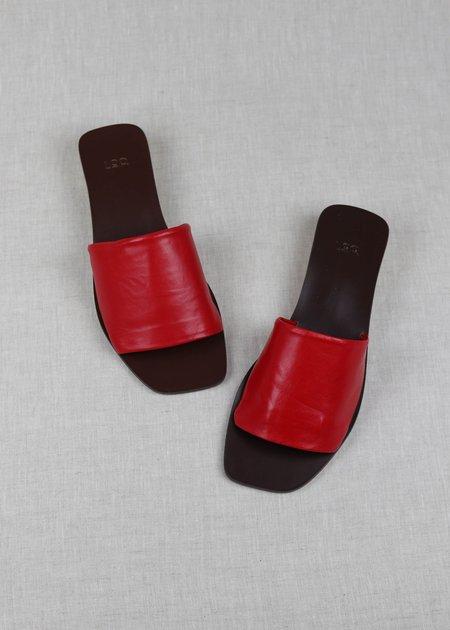 LOQ Leather Nuria Slides - Rojo