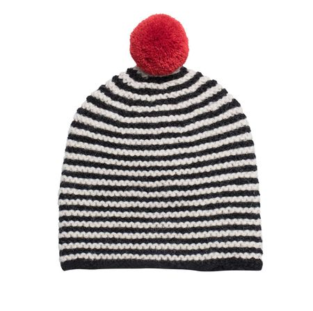 Kids Cabbages & Kings Striped Hat - Black/White