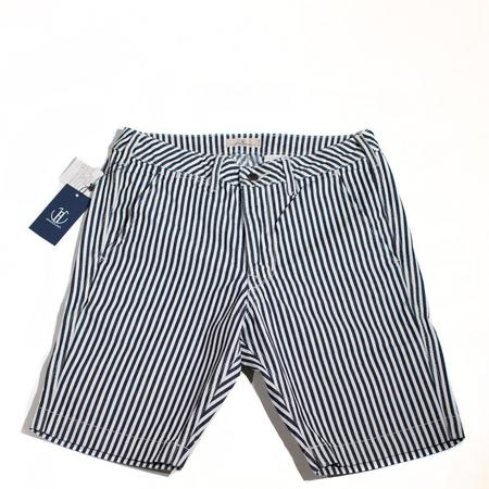 Japan Blue Knee Shorts - White Stripe
