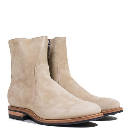 Viberg 2050 Last Suede Sidezip boot - Milkshake