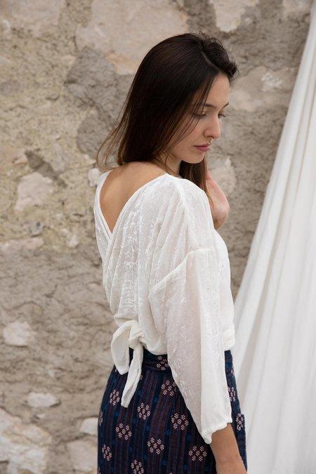 Miranda Bennett Wrap Top - White