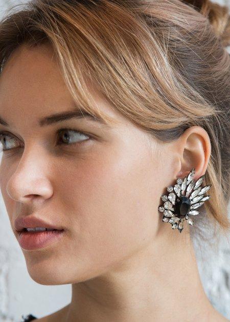 Carole Tanenbaum Vintage Collection B&W Starburst Earrings