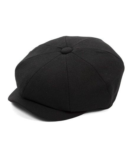 Barbour Melton Baker Boy Cap - Black