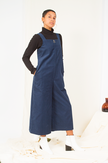 People Tree Erica Dungarees - Blue