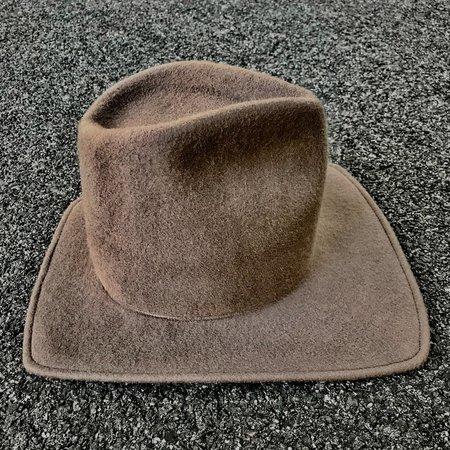 Esenshel TEAR TALL CROWN SQUARED BRIM HAT