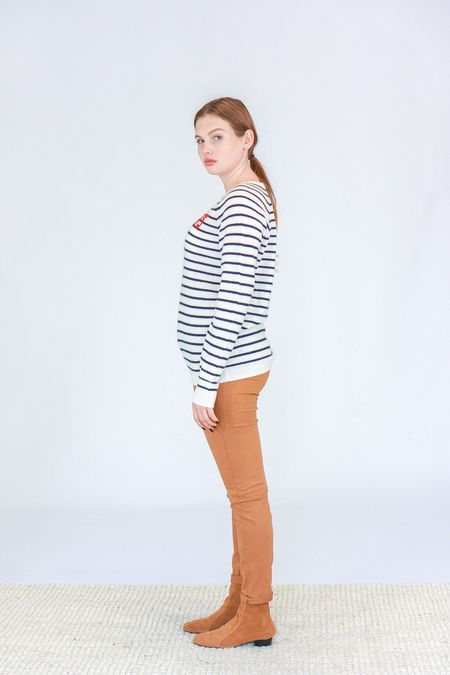 Trovata The Renee Cashmere Sweater - Paradis with Navy Stripes