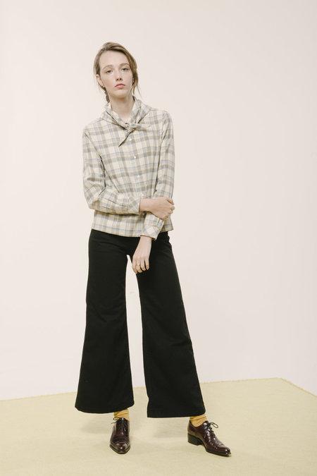 Carleen Bandana Neck Shirt - Ivory Flannel