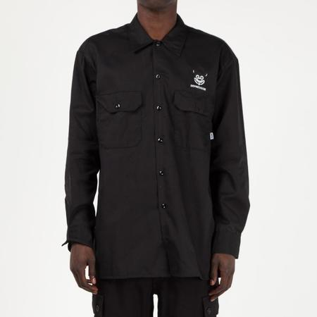 Fucking Awesome Depression Western Shirt - Black
