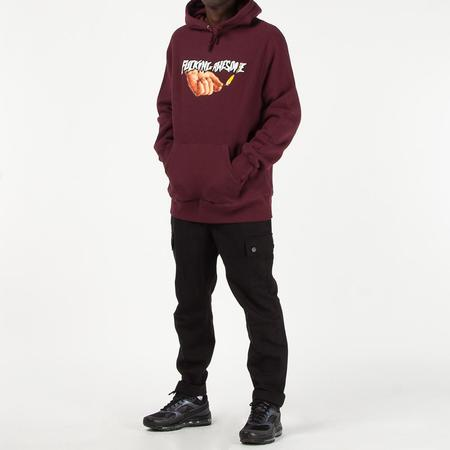 Fucking Awesome Pyro Pullover Hoodie - Maroon