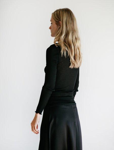 Toteme Monaco Silk Blend Top - Black