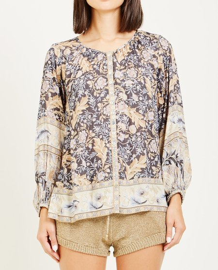 SPELL & THE GYPSY OASIS BLOUSE - NIGHTSHADE