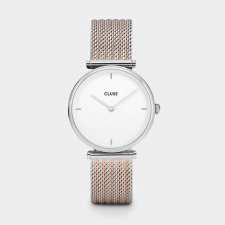 CLUSE TRIOMPHE CL61001 WATCH - SILVER BICOLOUR MESH