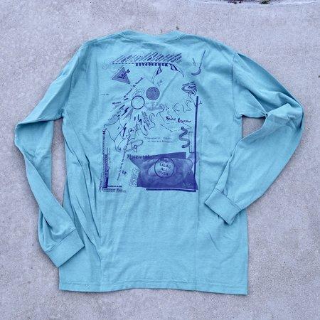 unisex die blaue distanz LA Edition LILA-X-BASE Memorial T-Shirt - blue