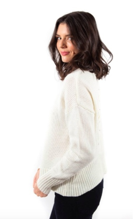 John + Jenn EZRA SWEATER - White