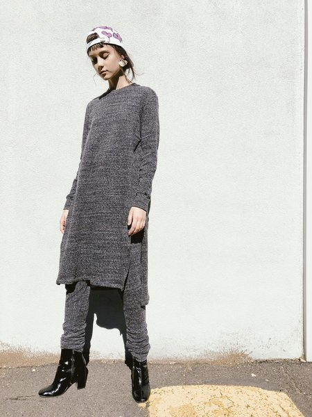 House of 950 flap sweat dress - Charcoal