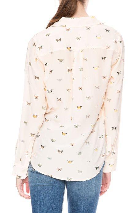 Rails Kate Silk Shirt - Blush Butterflies
