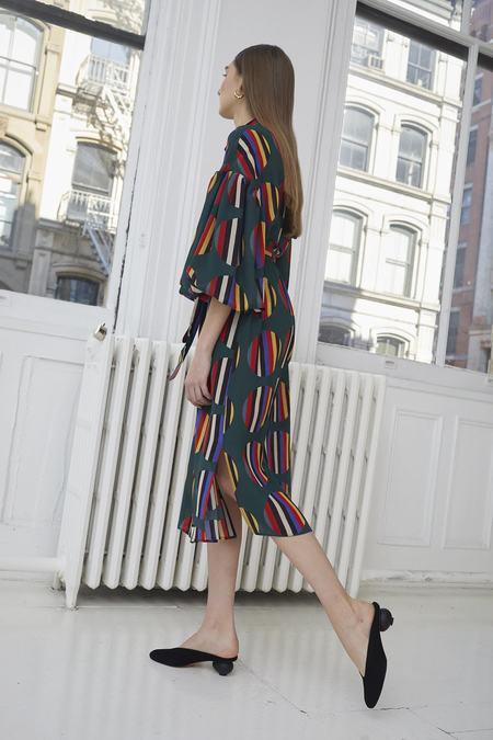 WHiT Etta Dress - Camera Stripe/Dot