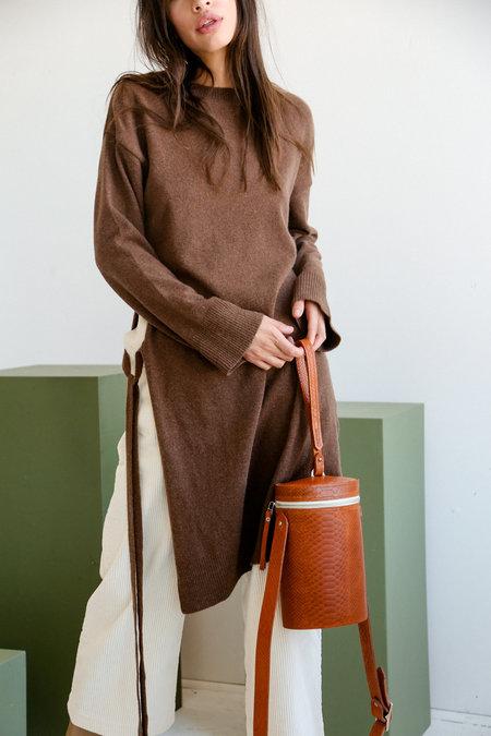 SONYA LEE Maya bag - Rust Snake